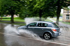 Flooded street Stock Images