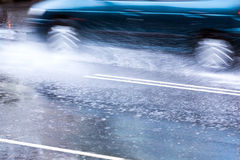 Flooded street Royalty Free Stock Photo