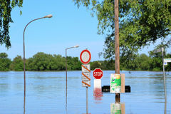 Flooded Street Royalty Free Stock Photography