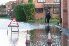 Flooded street Royalty Free Stock Photo
