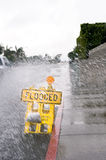 Flooded street sign Royalty Free Stock Photo