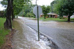 Flooded Street Royalty Free Stock Images