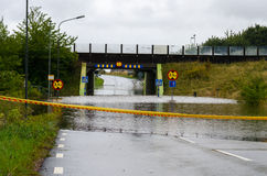 Flooded streets in Sweden Stock Photos
