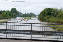 Flooded streets in Sweden Stock Photography