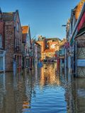 The Flooded Streets Of York Royalty Free Stock Images