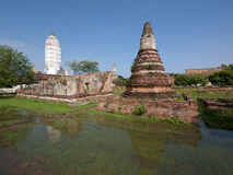 Flooded temple ruins in Ayuttaya, Thailand Stock Photography