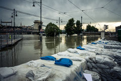 Flooded terrain in Europe Stock Image