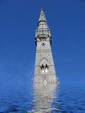 Flooded tower Stock Image