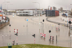 Flooded town Stock Photography