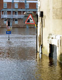 Flooded traffic signs Stock Photography