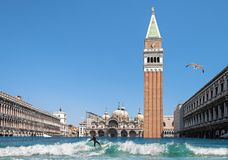 Flooded Venice royalty free stock image