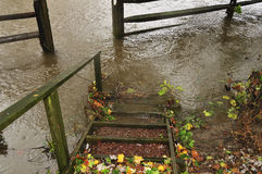 Flooded walkway Royalty Free Stock Image