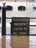 Flooded York sign Stock Image