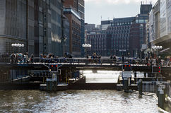 Floodgate. Hamburg Stock Photo