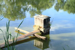 Floodgate of pond Royalty Free Stock Images