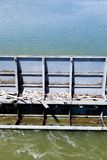 Floodgate at river - part of big dam royalty free stock photography