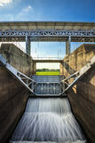The floodgates on a dam in a river from in thailand Royalty Free Stock Photography