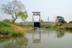 Floodgates. Floodgate at ayutthaya province, Thailand royalty free stock photography