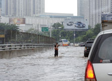 Flooding Джакарта Стоковые Изображения RF