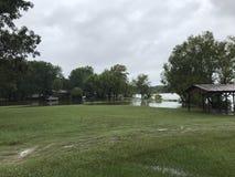 Flooding Ливингстона озера Стоковые Изображения