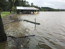 Flooding Ливингстона озера Стоковое Изображение RF