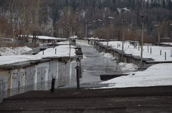 Flooding домов Стоковая Фотография RF