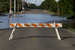 Flooding прилива опасности Стоковое Фото