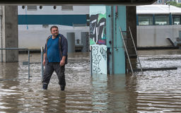 Flooding Сены, влияние глобального потепления Стоковое Изображение RF