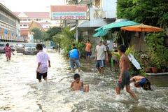 flooding Таиланд bangkok Стоковые Изображения