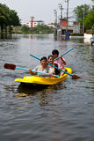 flooding 2011 bangkok Стоковое фото RF