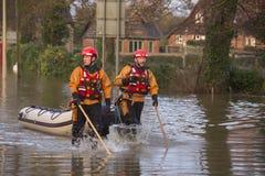 Flooding - av Yorkshire - av England Royaltyfri Fotografi