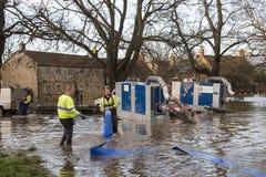 Flooding - av Yorkshire - av England Arkivfoton