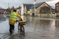Flooding - av Yorkshire - av England Royaltyfri Foto