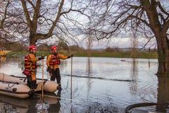 Flooding - av Yorkshire - av England Royaltyfri Bild