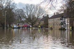 Flooding - av Yorkshire - av England Arkivbilder