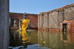 Flooding in Ayutthaya, Thailand. Stock Image