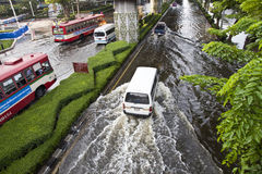 Flooding in Bangkok. Royalty Free Stock Images