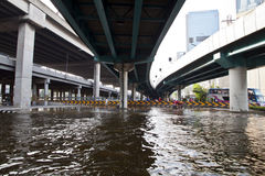 Flooding in Bangkok. Stock Images