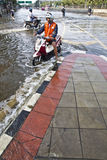 Flooding in Bangkok. Royalty Free Stock Photo
