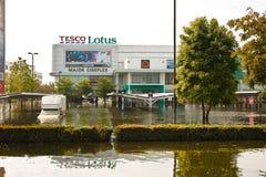 Flooding in Bangkok. Bangkok, Thailand - November 14: Home shopping Lotus. Nava Nakorn Industrial Park is in high flood, November 14, 2011 at Nava Nakorn Stock Image