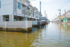 Flooding in Bangkok. Bangkok, Thailand - November 16: The house that was flooded during the construction of 16 November 2011 at Pathum Thani. Bangkok, which is Royalty Free Stock Photography
