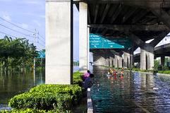Flooding in Bangkok Stock Images