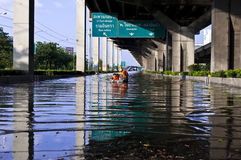 Flooding in Bangkok Royalty Free Stock Photography