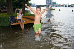 Flooding in Bangkok city.Thailand. Stock Photo