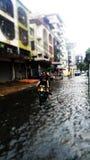 Flooding in Bangkok Royalty Free Stock Photography