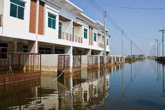 Flooding in Bangkok Thailand. Bangkok, Thailand - November 16: The house that was flooded during the construction of 16 November 2011 at Pathum Thani. Bangkok Royalty Free Stock Images