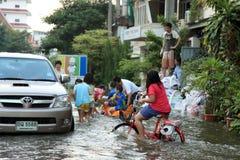 Flooding in Bangkok, Thailand Royalty Free Stock Photography