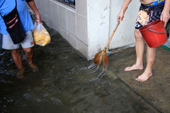 Flooding in Bangkok, Thailand Stock Photo