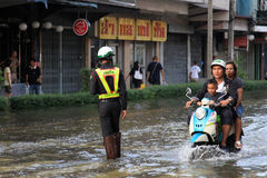 Flooding in Bangkok, Thailand Royalty Free Stock Photos