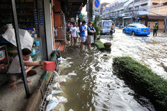 Flooding in Bangkok, Thailand Royalty Free Stock Image